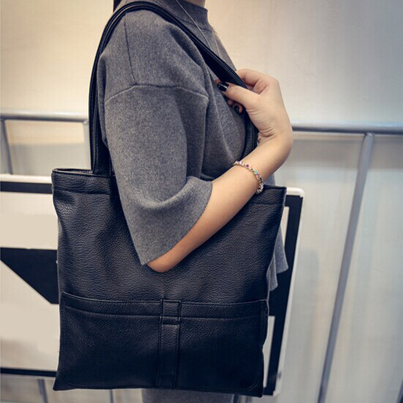 Woman Shoulder Bag Street Style Trend Headphones Leather Hand Totes Bag Causal Handbags Zipped Shoulder Organizer For Lady Girls Womens Party Bag For Women