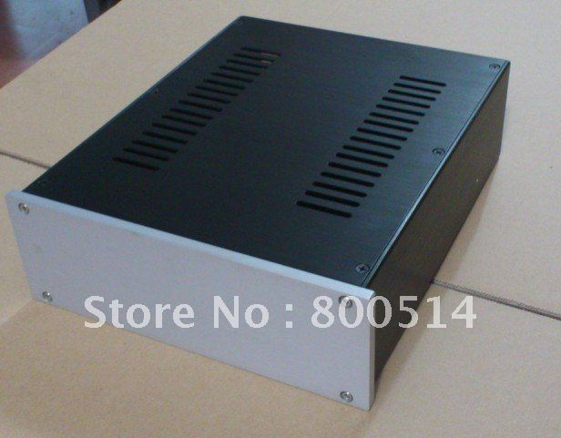 #2609   Full aluminum Power amp chassis / AMP Enclosure / Headphone amplifier case / PSU box DIY