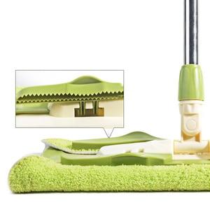 Image 5 - Esfregões lisos fáceis da tela dos materiais de limpeza do agregado familiar dos varredores de mop giratórios com a cubeta para varrer o assoalho duro para o líquido de limpeza preguiçoso