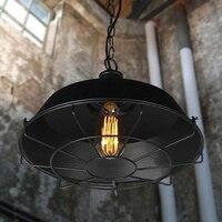 Nordic estilo industrial retro cadena colgante luces, Diámetro 36/46 cm metal de La Vendimia jaula colgante lámpara luz del almacén lámpara con bombilla