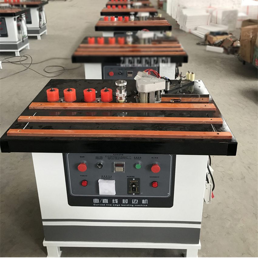 Portable Wood PVC Flat Edge Banding Machine Curve/Straight Edge Banding Machine Woodworking Edge Banding Machine 220V/380V 180W