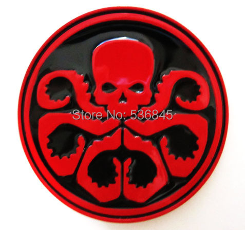 Hail Hydra Captain American Red Skull Belt Buckle