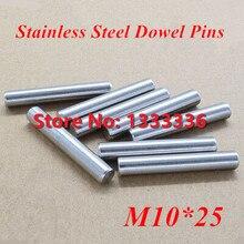 20 шт./лот M10* 25 GB119 Нержавеющая сталь штифты/круглый цилиндр цилиндрический штифт диаметром 8 мм