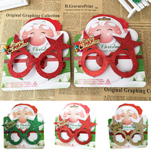 Popular Handmade glasses frame Christmas decoration  Childrens no lens eye gift party
