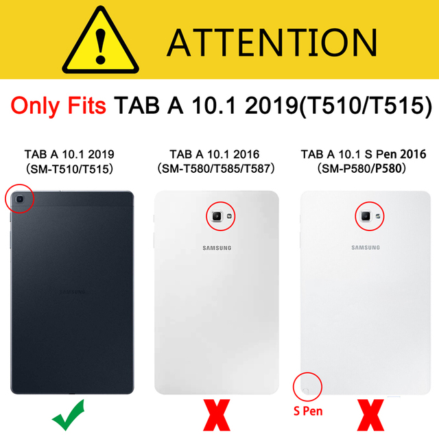 Tempered Glass Screen Protector for Samsung Galaxy Tab A 10.1 2019 T510 T515 SM-T510 SM-T515 Scratch Proof Protective Glass Film 5