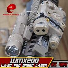 EX424 eleman SF LA 5C PEQ UHP görünüm yeşil lazer ve WMX200 el feneri ve çift uzaktan kumanda Airsoft el feneri kombinasyonu