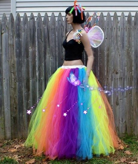 Us 62 5 Custom Made Female Rainbow Skirt Stage Skirts Adult Children Long Colorful Tutu Skirt Dancewear Retail Wholesale Free Shipping On
