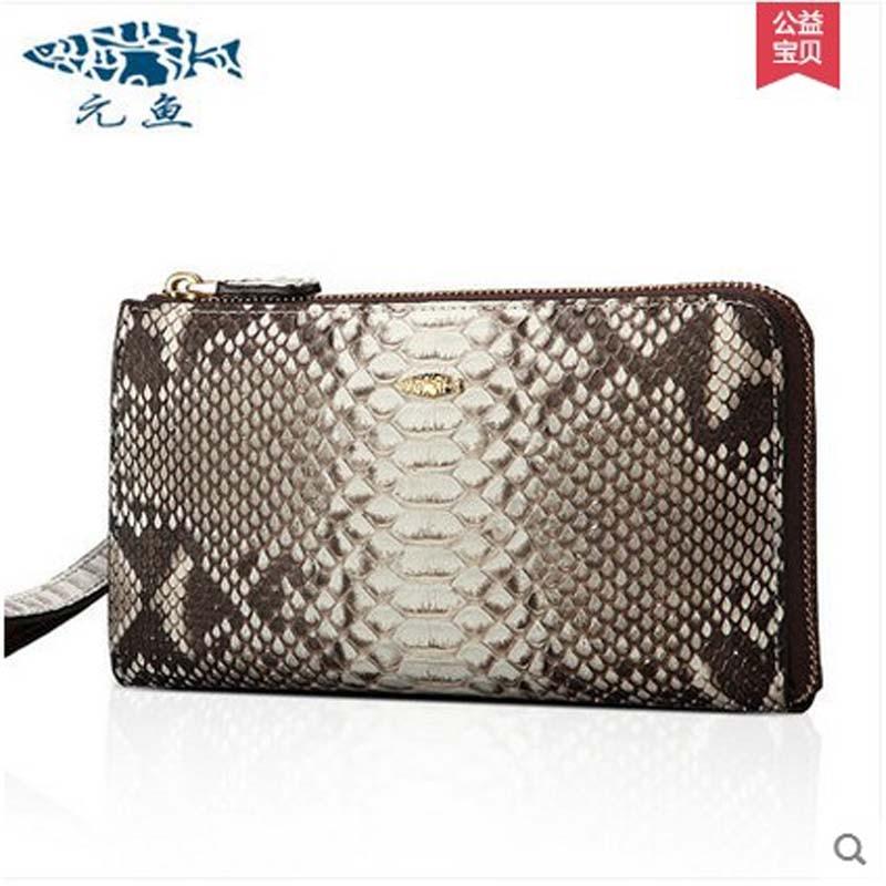 yuanyu 2017 new hot free shipping real python leather handbag women bag lady dinner female bag eisure high-capacity women purse
