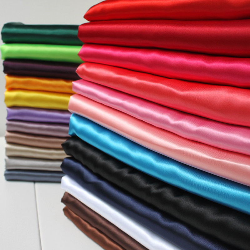 """Satin Fabric Հարսանյաց զգեստի երեսպատում Fabirc զգեստների կարի աքաղաղ 60 """"Լայն 5 բակեր / վիճակ 150X460CM"""