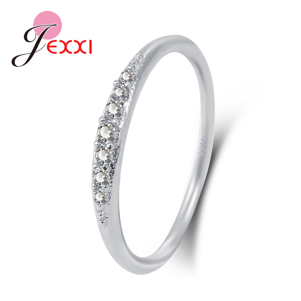 Billede af Jemmin New Fashion Shinning Small Rhinestone Superfine 925 Sterling Sliver Rings Anniversary Presents Fashion Elegant Design