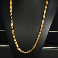 Vnox Gold Color Wheat Chain Necklace For Men Stainless Steel Long Choker Necklace 29 5 Male