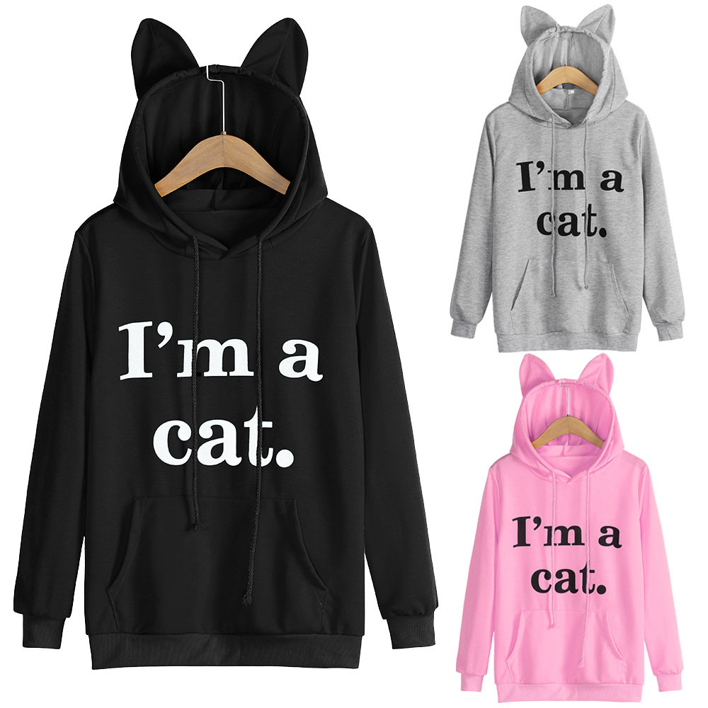 8273cc843a54 Cute-Animal-Shape-Sweatshirt-Womens-Pocket-Long -Sleeve-Hooded-Pullover-I-am-a-Cat-Letter-kawaii.jpg