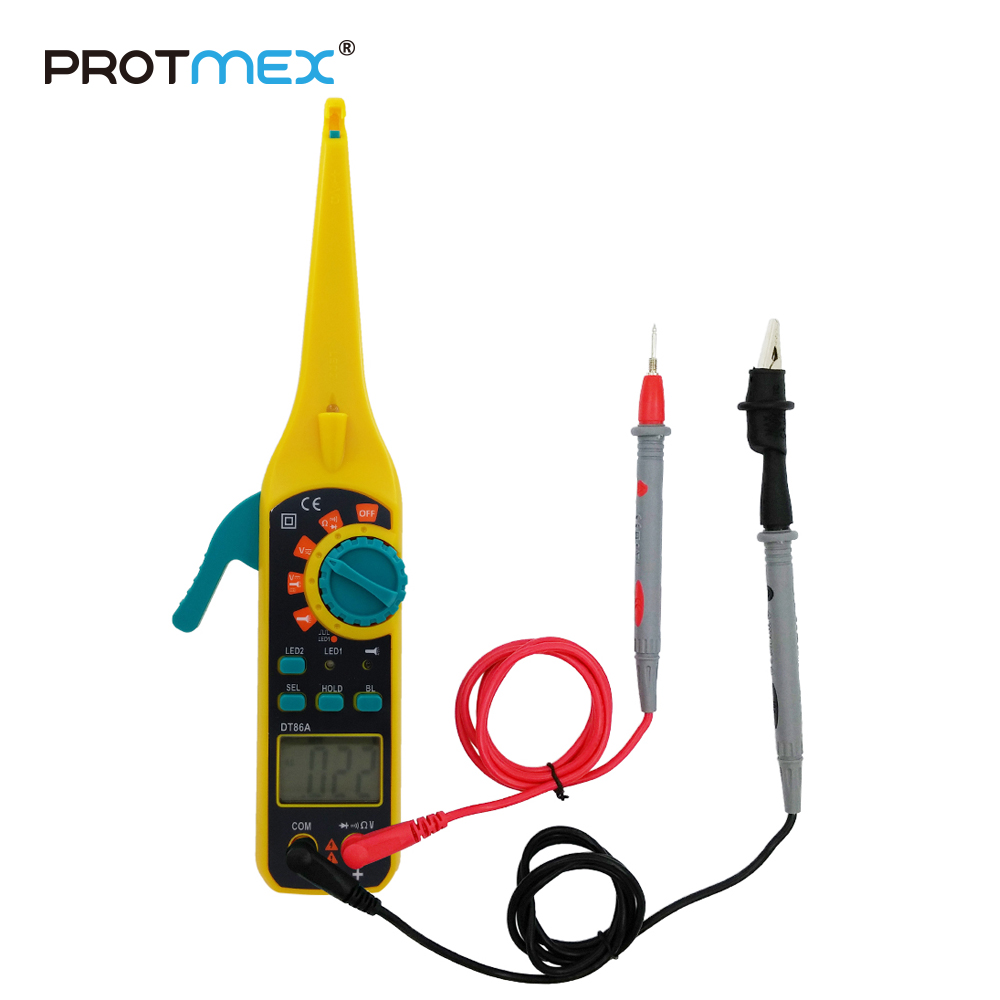 купить PROTMEX 2016 Best Seller Automotive Circuit Tester Low Price Digital Multimeter Car Circuit Detecting Instrument DT86A по цене 1090 рублей