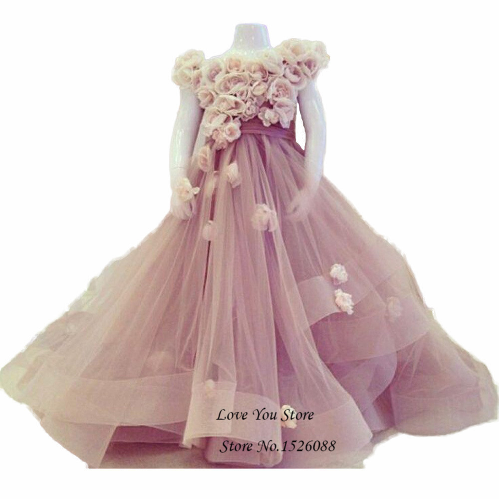 Child Flower Girl Dresses For Weddings Princess Birthday Dress For Toddlers 2016 Little Girls Evening Gowns Kids Prom Dresses