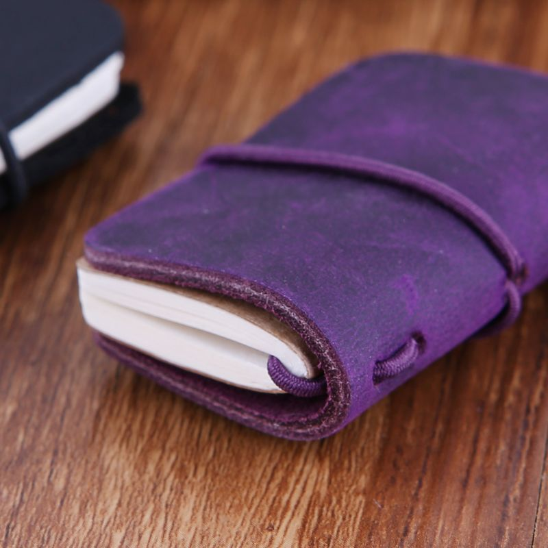 Portable Leather <font><b>Travel</b></font> Book Mini <font><b>Journal</b></font> Booklet Handmade Cover With Insert Brochure Creative Accessories Writing Gifts For Men image