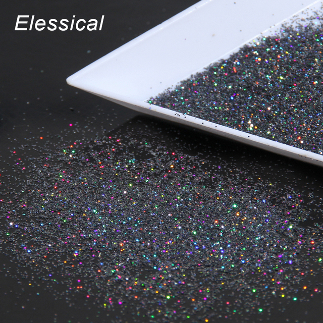 Women Universe Nail Decals Gray Color Dust Design Nail Glitter