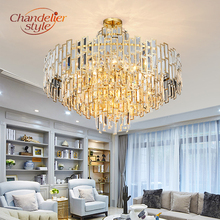 Modern Crystal Chandelier Lighting Fixture Luxury LED Chandeliers Hanging Light for Home Living Dining Room Decoration modern led lustre chandelier hanglamp remote control chandeliers hanging lighting dining room restaurant office light fixture