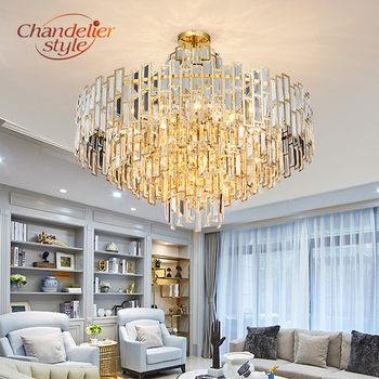 Modern Crystal Chandelier Lighting Fixture Luxury LED Chandeliers Hanging Light for Home Living Dining Room Decoration white glass crystal chandelier led light fixture home decorations chihully style hand blown modern chandelier light