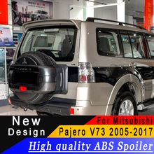 High quality ABS spoiler For Mitsubishi Pajero V73 2005 to 2017 roof Primer or any color rear for