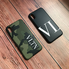 Funda de silicona suave de camuflaje de marca de lujo Italia VLTN para apple iphone 6 S 7 7plus 8plus X XR funda de teléfono simple XS max(China)