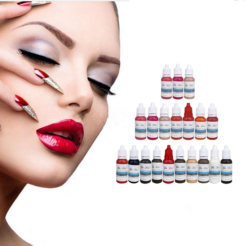 Professional Permanent Makeup Machine Pigments Set Tattoo Ink 15ml Microblading Pigpigment Eyebrow Lip Eyeliner Make up 22 color 7 colors permanent eyebrow lipstick microblading pigments paints ink for lip tattooing 15ml 1 2 oz