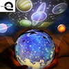 Baby Sleep Night Light Planet Magic Children Projector Universe Led Lamp Colorful Rotary Flashing Starry Sky
