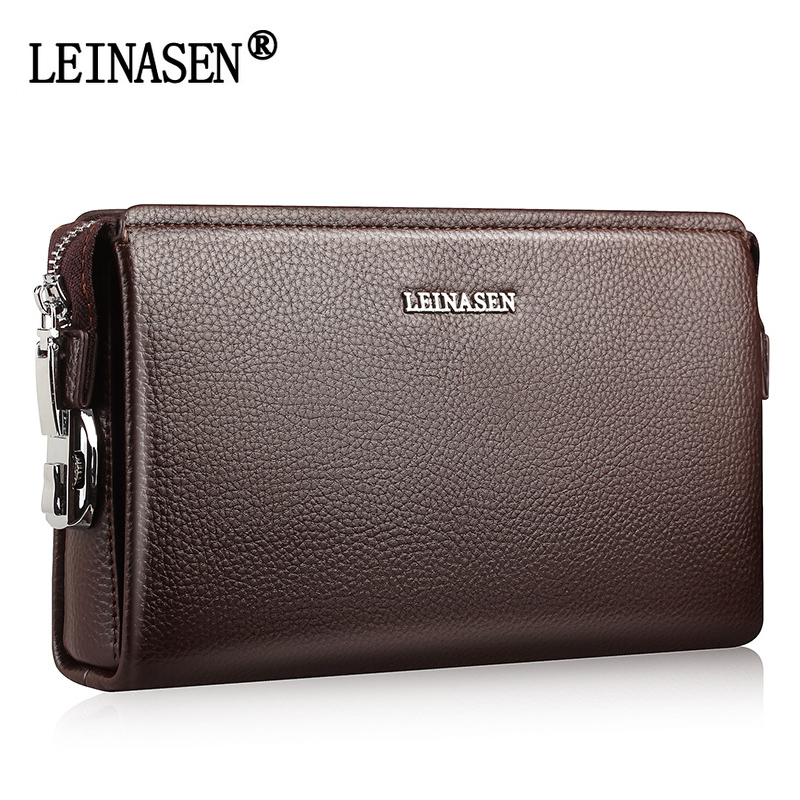 Men Clutch Famous Brand Men Soft Leather Long Wallets Purse Card Holder Large Capacity Male Clutch Bag Man Handy Bags For Phone top brand genuine leather wallets for men women large capacity zipper clutch purses cell phone passport card holders notecase