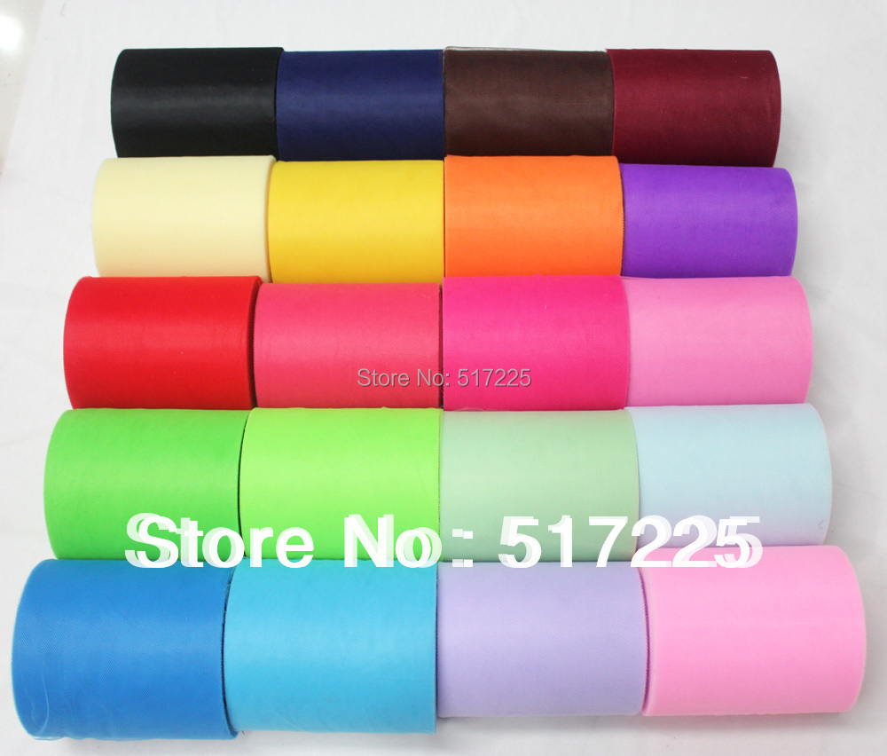6 inch 100 yards tulle 15cm 100 Polyester mesh tulle fabric spool tulle