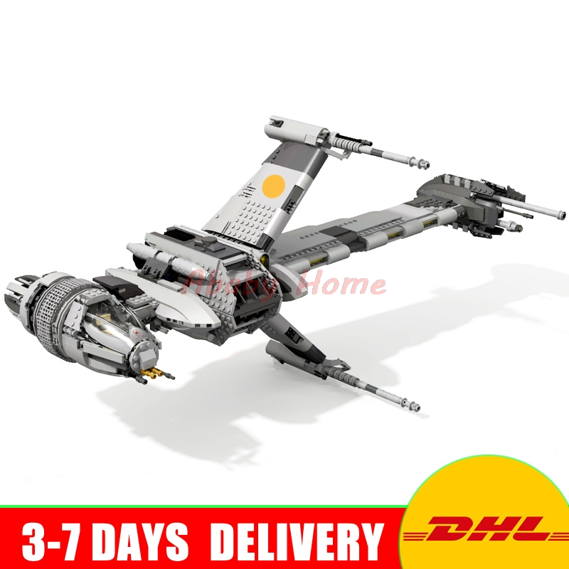 2017 DHL Lepin 05045 1487pcs Genuine New UCS Series The B-wing Starfighter Educational Building Blocks Bricks Toys 10227 dhl fast shipping 1990pcs lepin 05047 ucs ewok village building blocks juguete para construir bricks toys compatible 10236