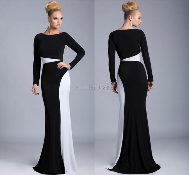 2015 Designer vestido de festa A line Scoop Full Sleeve Simple ...
