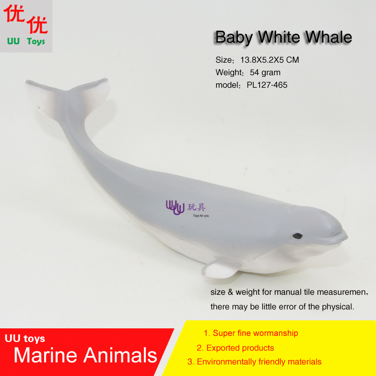 Hot toys baby Beluga Whale (White Whale) Simulation model Marine Animals Sea Animal kids gift educational props