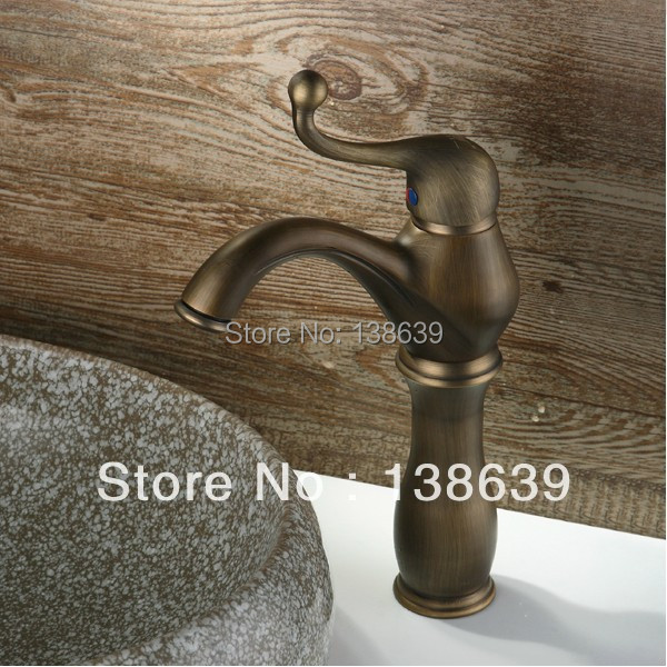 Free shipping antique bathroom faucet,material brass brushed bronze ...