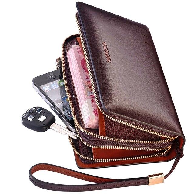 Men's Genuine Leather Business Clutch Bag Handbag Wallet Card Case Cash Holder Organizer Bag NEW