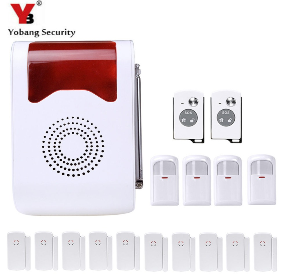 YobangSecurity Wireless Loudly Speaking Voice Anti-Theft Alarm System Home Security Alarm System Door Detector PIR Alarm Sensor wireless home security alarm system anti theft vibration shock detector sensor alarm 120db voice for door window car