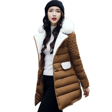 Womens Winter Jackets And Coats 2017 Thick Warm Down Cotton Padded Parkas For Women's Winter Jacket Female Coats Femme 4L02