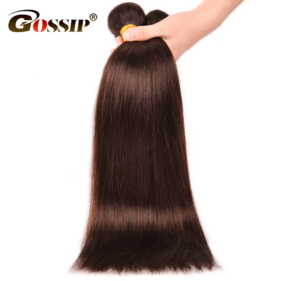 Gossip Brasilian Straight Hair Weave Bundles 100% Human Hair Bundles - Menneskelig hår (for svart)