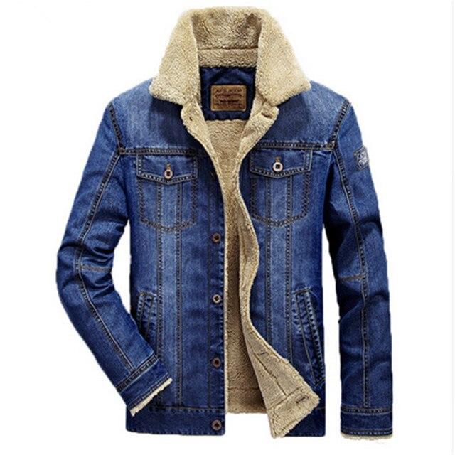e69f708d35ecdf 2017New Mode herren jeans jacke starke warme winter outwear männlichen  cowboy männer jacke und mäntel marke kleidung denim