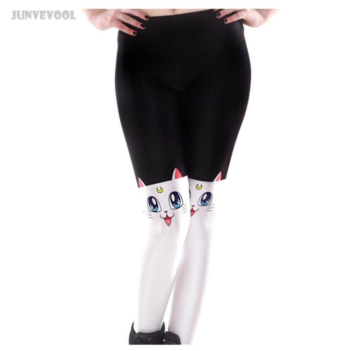 39dba998d82a5 Femmes Leggins Sexy Femmes Chat sur Genou Conception Mince Pantalon Taille  Haute Leggings Femmes de Patchwork Pantalon Skinny Pantalon Jeggings