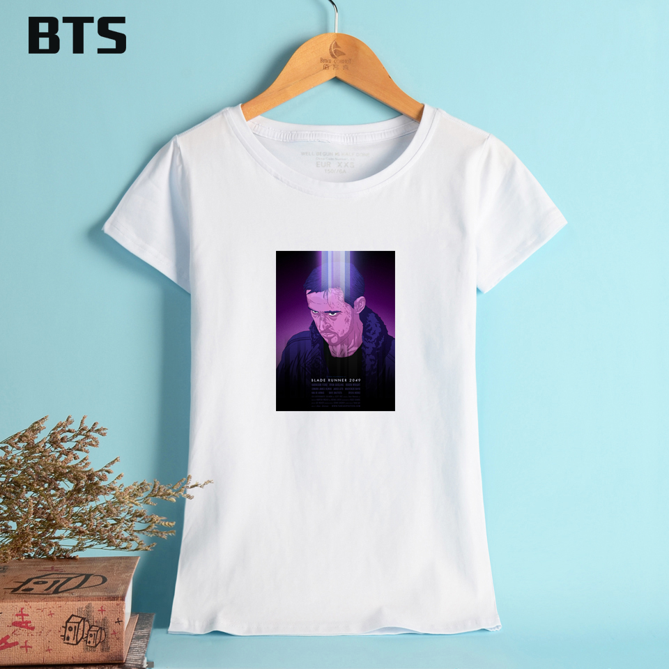 BTS Blade Runner 2049 T-Shirt Women High Quality Comfortable Casual Ladies Streetwear Tops Fashion Tee Shirt Women Plus Size