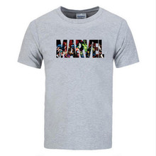 2019 New Fashion Marvel Short Sleeve T-shirt Men Superhero print t shirt O-neck comic shirts tops men clothes Tee