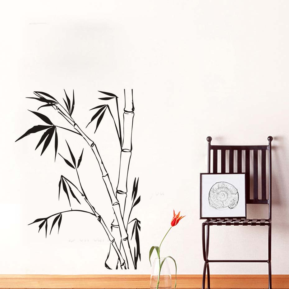 Bamboo Wall Stickers For Living Room Wall Decoration For Home Diy Wall Art Decals Wallpaper Posters Home Decoration Accessories line art