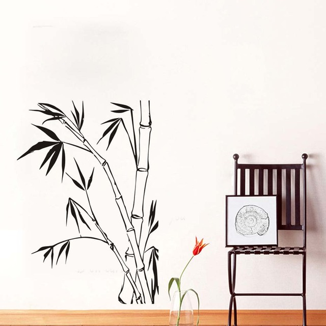 Bamboo Wall Stickers For Living Room Wall Decoration For Home Diy ...