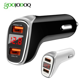Dual USB Car charger quick charge 2.0 Mobile Phone Charger 2 Port USB Fast Car Charger for iphone ios Samsung Xiaomi