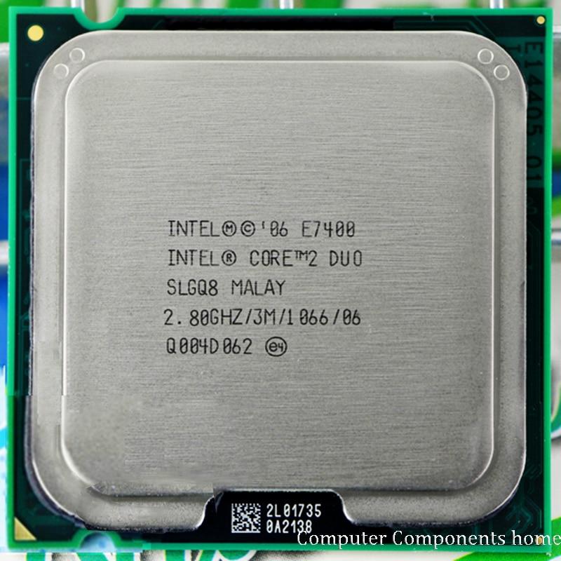 Original INTEL Core 2 Duo E7400 CPU Processor (2.8Ghz/ 3M /1066GHz) Socket LGA 775 1