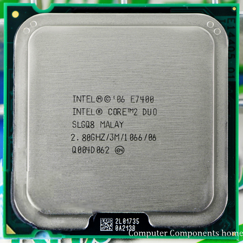 Original INTEL Core 2 Duo E7400 CPU Processor (2.8Ghz/ 3M /1066GHz) Socket LGA 775