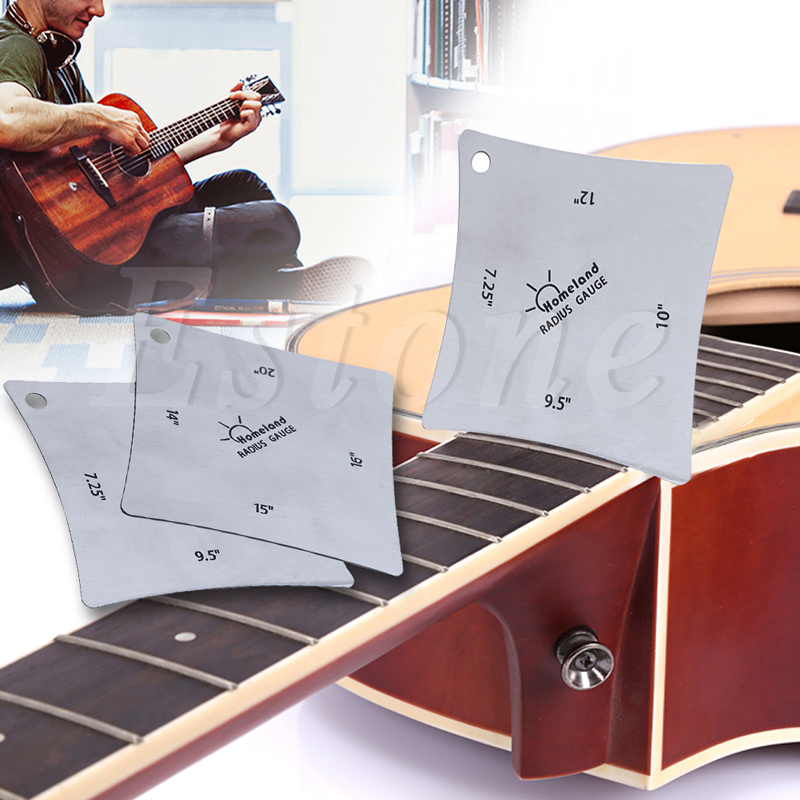 Symbol Of The Brand Set Of 2 Guitar Bass Square Radius Gauge Fingerboard Measuring Luthier Tools Making Things Convenient For The People Sports & Entertainment