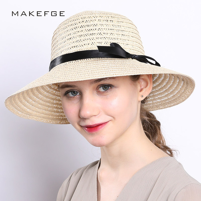 431ba2d1794 Hats Women Wide Large Brim Floppy Summer Beach Sun Hat Straw Hat .
