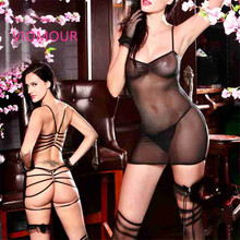 9897 Plus Size Adult Sexy Babydoll Lingerie Hot Sexy Women Erotic See Through Uniform Underwear Night Gown Dress