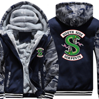 COYOUNG Brand US SIZE 5XL Men Hoodies Riverdale South Side Serpents Winter Fleece Print Hoody Thicken Sweatshirts