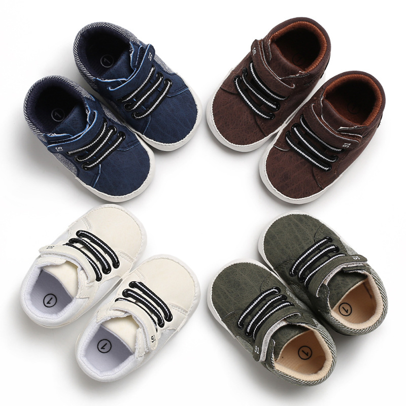 Spring And Autumn 0-1 Years Old Male Baby Casual Shoes Soft Bottom Non-slip Baby Toddler Shoes